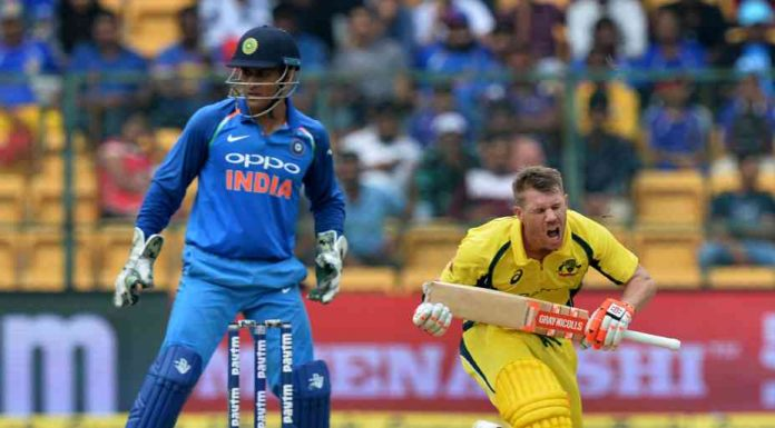 File image of MS Dhoni and Warner. Reuters