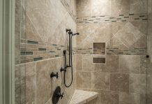fully clean shower tile surface on bathroom